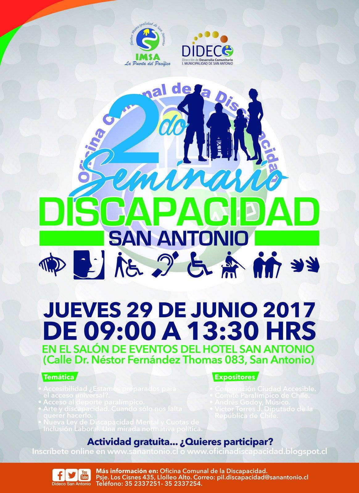 Afiche 2do Seminario de Discapacidad