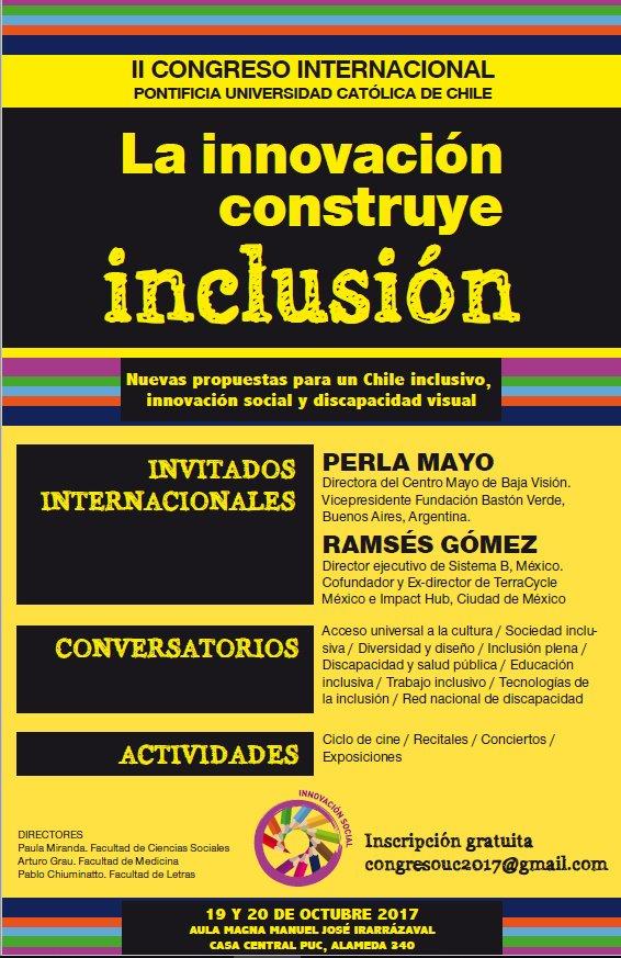 Afiche congreso internacional la innovación construye inclusión
