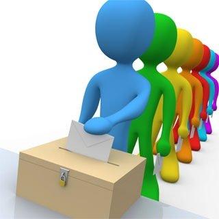 Dibujo voto urna