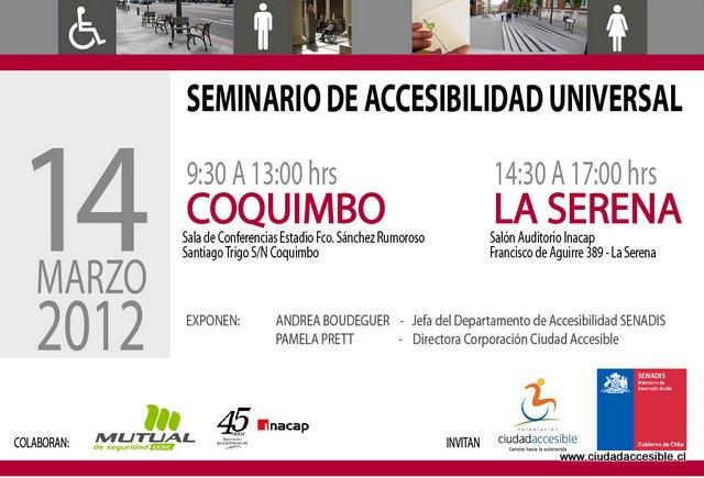Primer seminario accesibilidad universal 2012 Coquimbo y La Serena