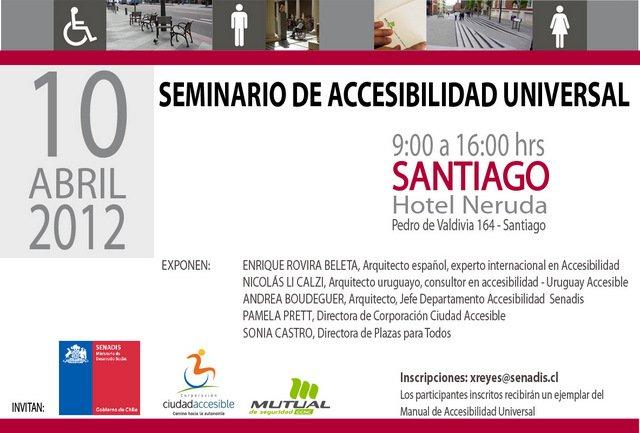Seminario internacional de accesibilidad universal Santiago