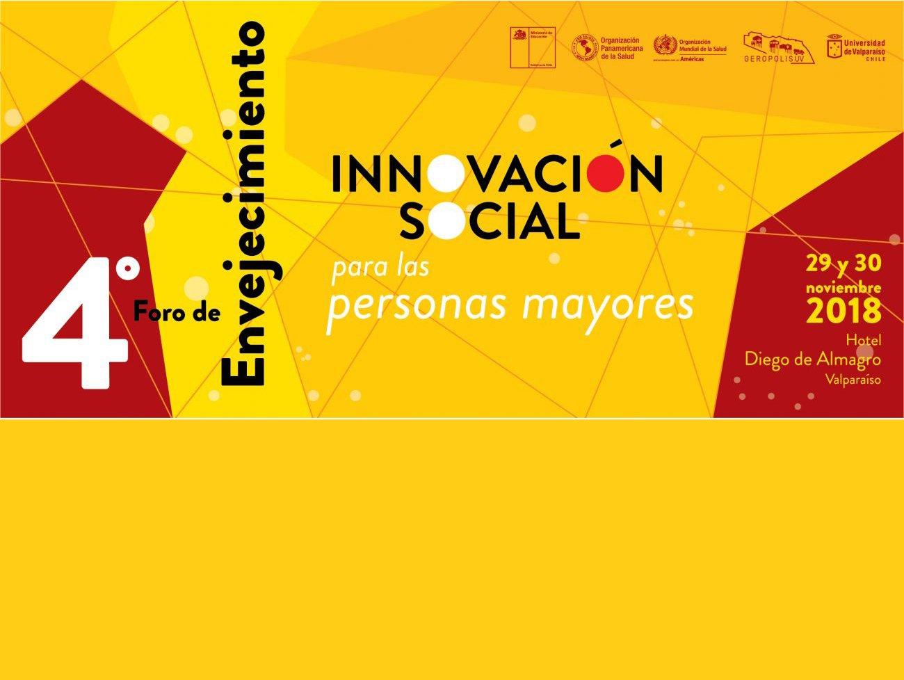 flyer IV foro envejecimento a realizarse en Valparaiso los dias 29 y 30 de noviembre
