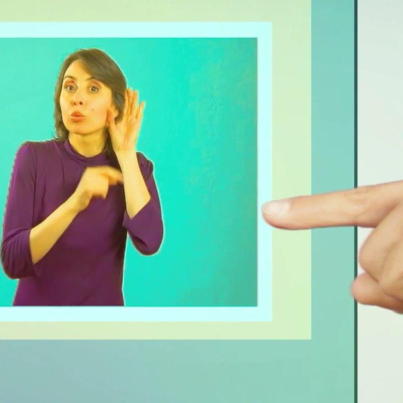 lengua de señas en televisión