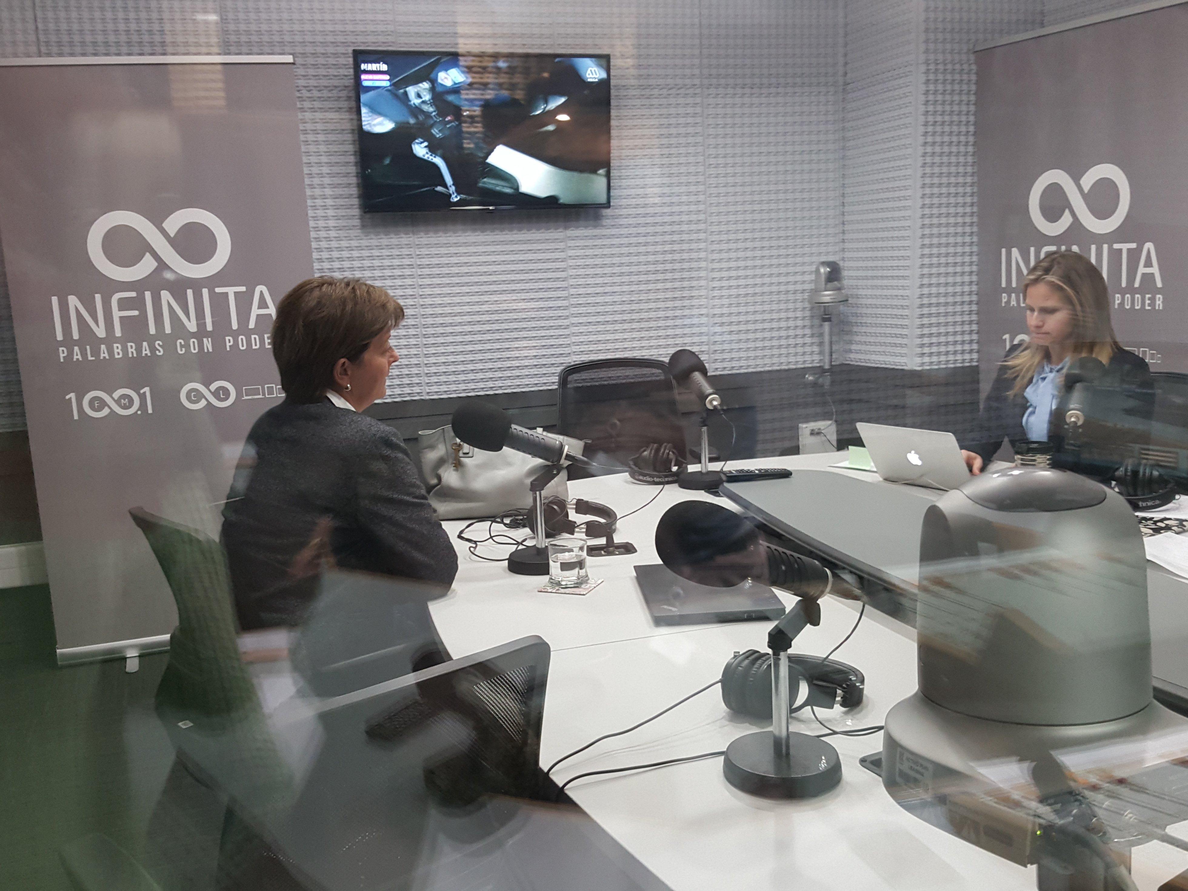 Pamela Prett como invitada de Soledad Onetto en Radio Infinita