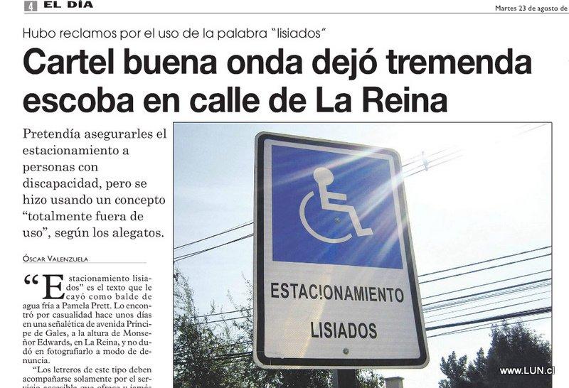"""De """"Minusválidos y Lisiados"""" a """"Estacionamientos Accesibles"""""""