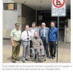 Autoridades de La Araucanía impulsan campaña por el respeto a los Estacionamientos para personas con discapacidad. Foto: Senadis