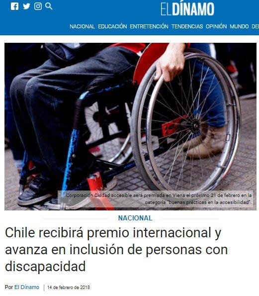 El Dinamo - Chile recibirá premio internacional y avanza en inclusión de personas con discapacidad