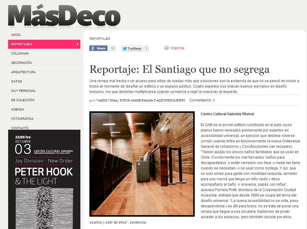 MasDeco Reportaje El Santiago que no segrega