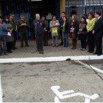 SENADIS Aysén lanzó compaña de uso correcto de estacionamientos para personas con discapacidad. Foto: Senadis