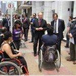 Senadis Antofagasta realiza llamado a respetar estacionamientos destinados a personas con discapacidad. Foto: Senadis