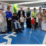 Senadis Atacama realizan llamado a respetar estacionamientos destinados a personas con discapacidad. Foto: Senadis