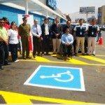 Senadis Tarapacá lanzó campaña para respetar estacionamientos destinados a personas con discapacidad. Foto: Senadis