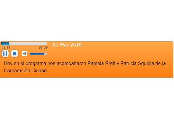 audio radio usach con Pamela Prett y patricia Squella