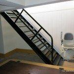 sillín salva escalera para acceder a cubierta