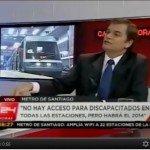Roberto Bianchi informando sobre Plan de Accesibilidad en Metro de Santiago
