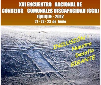 afiche Encuentro Nacional de Consejos Comunales de la Discapacidad