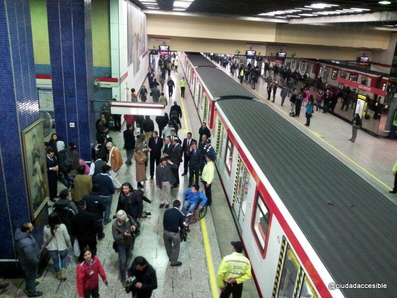 Metro inaugura primeros ascensores que forman parte de su Plan de Accesibilidad