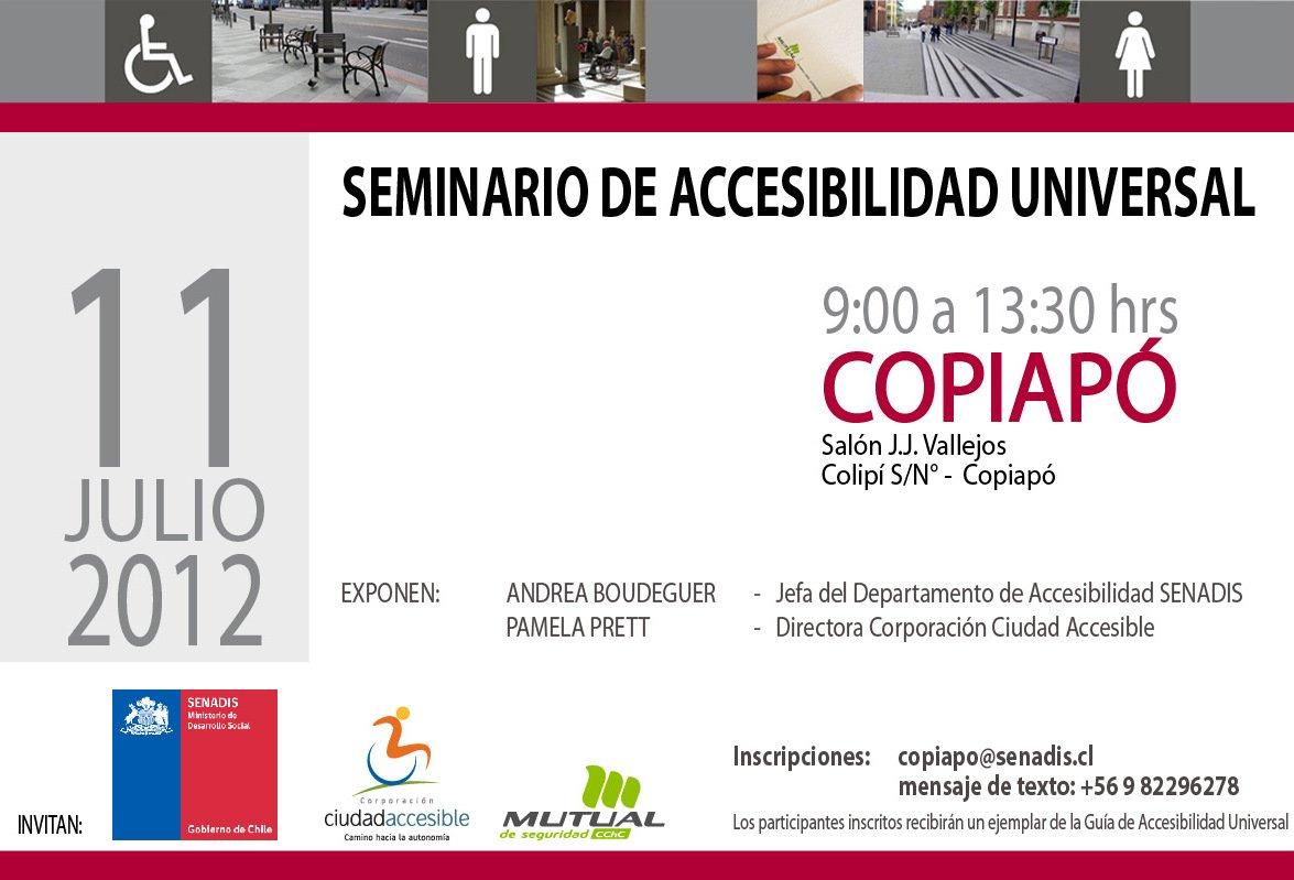 Seminario de Accesibilidad Universal | 11 de Julio | Copiapó
