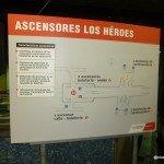 Detalle de ascensores y ruta accesible en estación Los Héroes