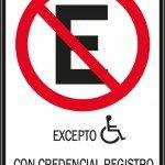 señalización vertical oficial para señalizacion en estacionamientos reservados para personas con discapacidad