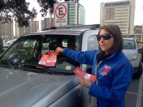 Autoridades reforzaron el buen uso de estacionamientos para personas con discapacidad en Concepción