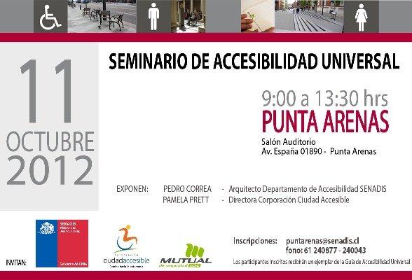 Seminario de Accesibilidad Universal | 11 de Octubre | Punta Arenas