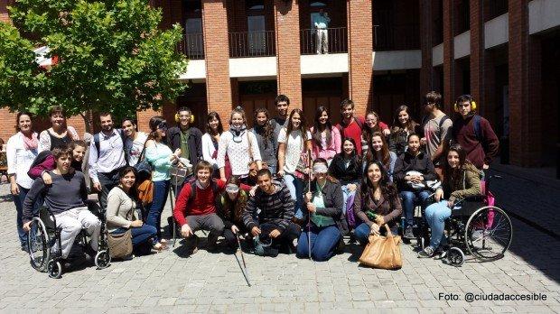 grupo de taller de accesibilidad estudiante de Kinesiología U. de Los Andes
