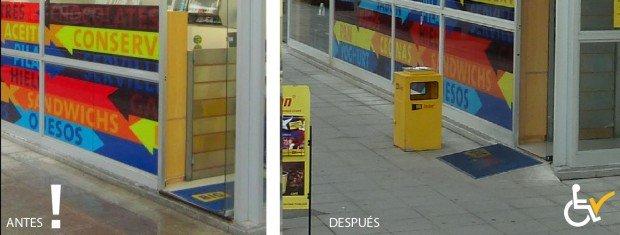 Antes y después acceso a BigJohn Las Condes