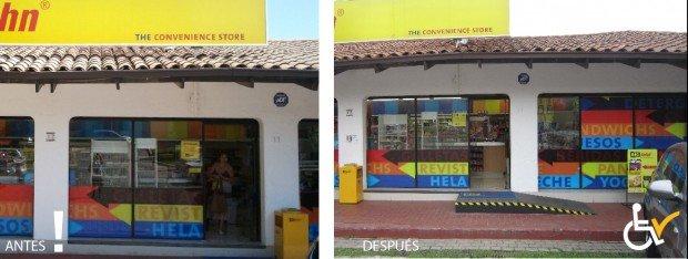 Antes y después acceso a BigJohn La Fuente