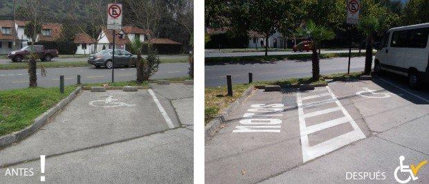 Antes y Después  Estacionamiento Frente Universidad del pacifico arreglo estacionamiento
