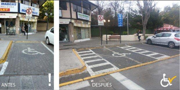 Antes y Después  Calle Gilberto Fuenzalida arreglo estacionamiento