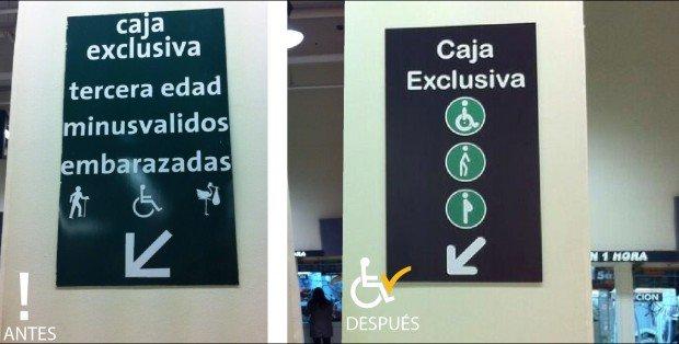 Antes y después Cambio señalización Jumbo Temuco