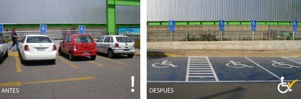 Antes y Después  Lider Tomas Moro arreglo estacionamiento