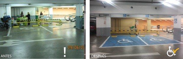 Antes y Después MONTSERRAT arreglo estacionamiento