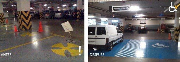 Antes y Después Mall Vivo Melipilla arreglo estacionamiento