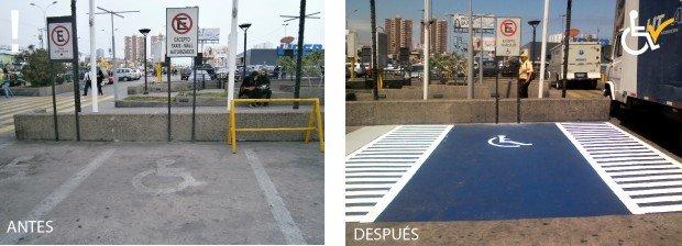 Antes y Después Mall Ls Américas Iquique arreglo estacionamiento