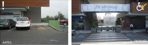 Antes y después Estacionamiento Paseo de Los Dominicos