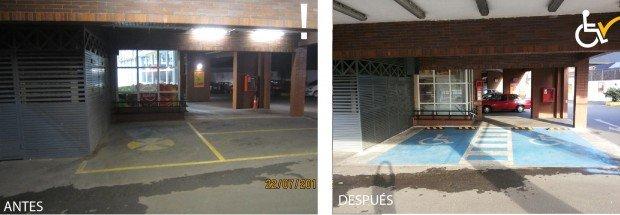 Antes y después Estacionamiento Santa Isabel Los Dominicos