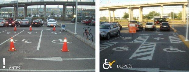 Antes y después Estacionamiento aeropuerto AMB
