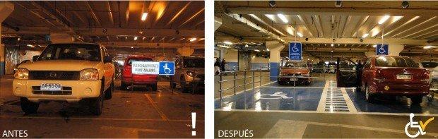 Antes y después Estacionamiento Lider Puerto Montt