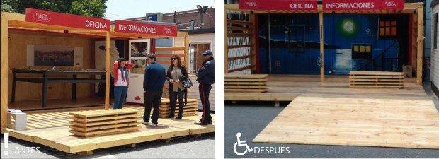 Antes y después Salón exhibición puerto baron Valparaíso