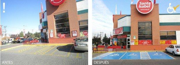 Antes y después Estacionamientos Santa isabel Apoquindo