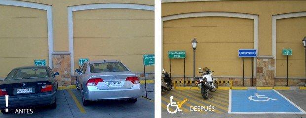 Antes y después Estacionamiento Shopping la dehesa