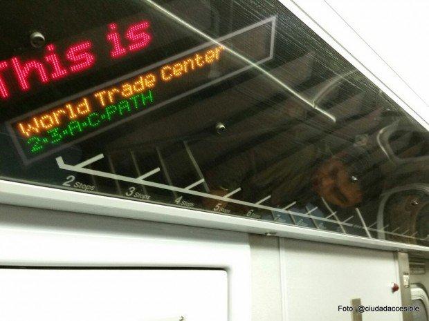 Información sobre próxima parada Metro Nueva York