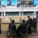 pasajeros en silla de ruedas