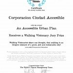 Certificado premio WalkVision_20150807_An Accessible Urban Plan
