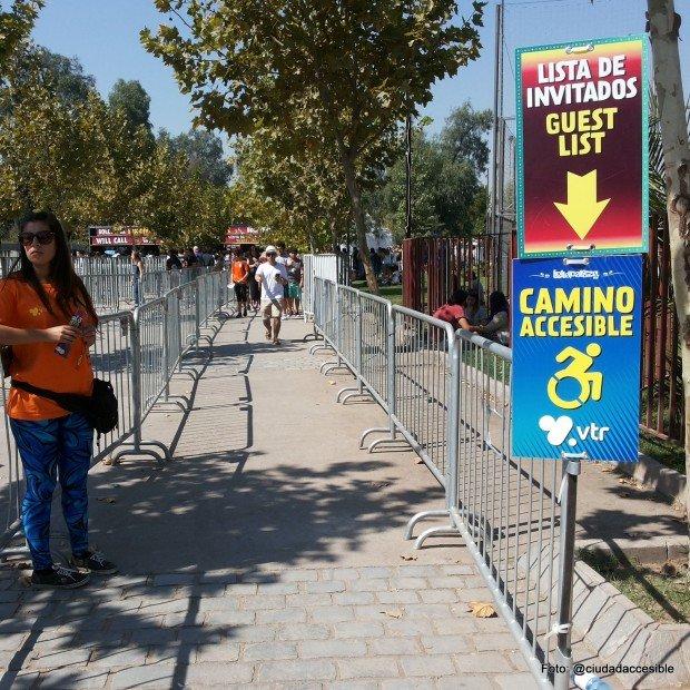 accesibilidad Lollapalooza ruta accesible