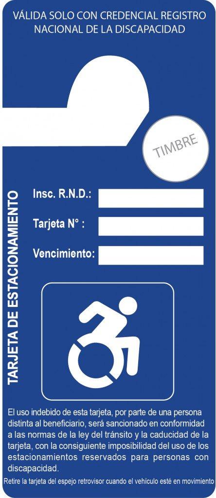 Propuesta de Tarjeta Azul como identificación para estacionar a personas con discapacidad