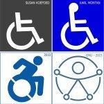 cuatro íconos de accesibilidad