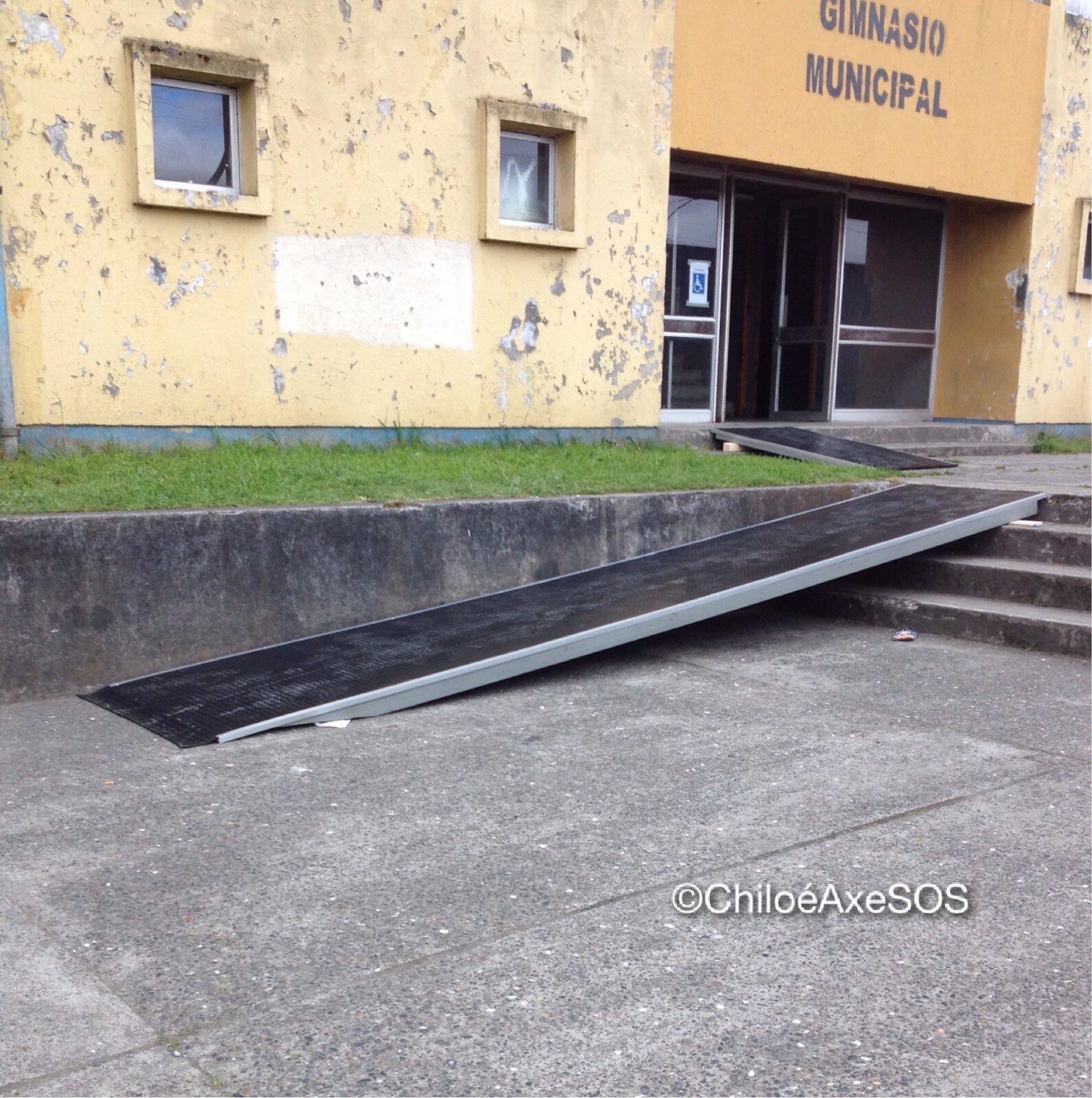 Rampas provisorias de acceso